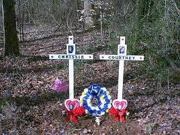 This is an example of a roadside memorial. It was erected in memory of two loved ones killed at the site.