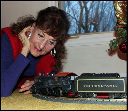 Yep, that's me and my very own train!