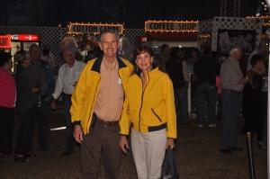 My husband, Burl, and I at Circus Sarasota.