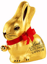This is the gold bunny recommended as a gift.