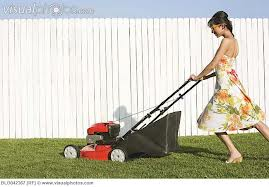 Not quite what I look like when I mow.