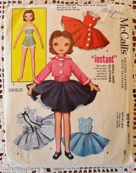 The Betsy McCall Doll on the front of a pattern package.