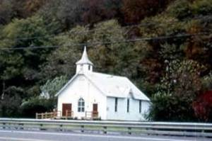Early photo of Tivoli U. M. Church. It now has an addition built.