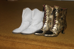 The boots I wore as a majorette and the Victorian boots I wear today.