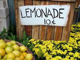 A reminder of years gone-by. It's doubtful that lemonade could be made for 10 cents a glass today.
