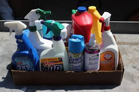 There's no shortage of cleaning products.