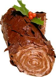 Anyone for a piece of chocolate yule log?