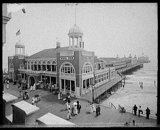 The Steel Pier at Atlantic City.