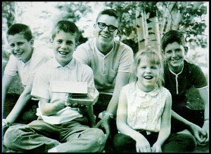 Here's my family, four sons and one daughter- in 1965.