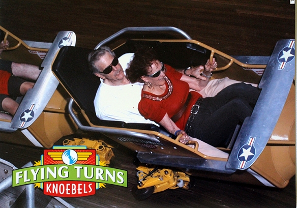 Here we are pictured during the ride we were persuaded to try.