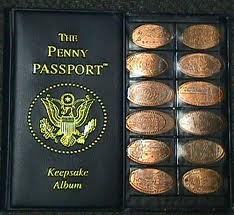 The pressed penny collector's book.