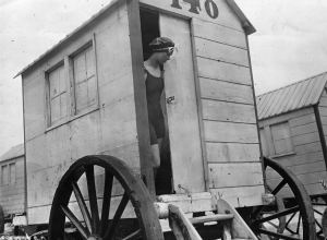 This was the bathing machine.
