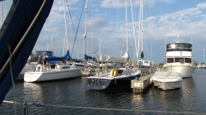 We visited many marinas, like this one.