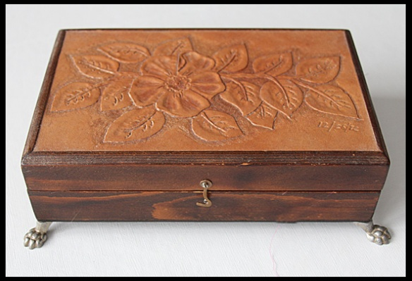 This hand tooled leather  box is a gift from my husband.