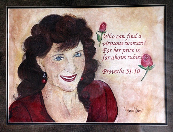 This watercolor was done last year by my granddaughter, Yvonne Weaver.