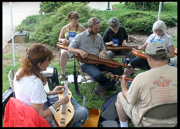 Here I am, to the left in dulcimer class.